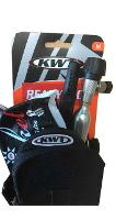ROAD READY PACK - KWT SADDLEMAG MEDIUM W/VELCRO STRAP/ ROCKET  ROAD TUBE 700C 48MM / LEVERS / CO2 HEAD / CO2 16G
