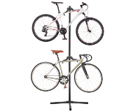 IBERA TWO BIKE BICYCLE DISPLAY STAND WITH MULTI PIVOT ARMS