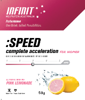 INFINIT NUTRITION SPEED LADIES PINK LEMONADE S/SERVE 10 SATCHELS/ BOX